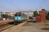 AJNI WAG7 27438 runs through Kanjari Boriyavi Jct with a southbound petroleum train