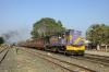 SBI YDM4 6557 waits departure from Naroda with 52919 1350 Himmatnagar - Ahmedabad Jct