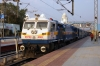 GY WDP4D 40202 about to depart Kacheguda with 17223 1645 Secunderabad Jn - Kurnool City