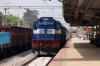 KJM WDM3D's 11522/11520 arrive into Yelahanka Jn with 12252 0800 (P) Korba - Yesvantpur Jn Wainganga Express; which the 3D's had worked throughout!
