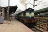 KJM WDM2 17751 departs Yesvantpur Jn with 56227 1630 Bangalore City - Shimoga Town