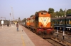 ERS WDM3A 14055 runs through Mangalore Jn non-stop with 22636 0815 Mangalore Central - Madgaon