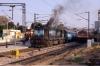 KJM WDG3A 13263 departs Yesvantpur Jn with 56227 1630 Bangalore City - Shimoga town