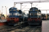 Bangalore City (L-R) - KJM WDM3D 11578 waits to depart with 56525 1810 Bangalore City - Chikballapur & KJM WDM3D 11524 waits to depart with 56523 1745 Bangalore City - Hindupur