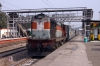 LDH WDM3A 16052 arrives into Pathankot Cantt with 19223 1120 (P) Ahmedabad Jct - Jammu Tawi