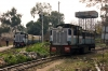 PTK ZDM4 #198 shunts the stock off 52466 0720 Baijnath Paprola - Pathankot Jct into the carriage sidings at Pathankot Jct; meanwhile PTK ZDM3 #179 waits to come off shed to drop into the station and work 52469 1550 Pathankot Jct - Baijnath Paprola