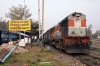 LDH WDM3A 16052 waits to depart Firozpur Cantt after running round 19226 2125 (P) Jammu Tawi - Bathinda Jct