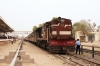 SIKR outbased YDM4 6733 at Churu after arrival with 52085 0615 Jaipur - Churu; there is no longer an MG platform at Churu and trains simply terminate in the dustbowl adjacent to the new BG platforms