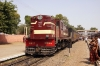 SIKR outbased FL YDM4 6627 waits at Ringas Jct with 19736 1030 Sikar - Jaipur Intercity