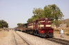 SIKR outbased FL YDM4 6627 waits at Nindhar Benar with 19736 1030 Sikar - Jaipur Intercity