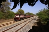 MVJ outbased FL YDM4 6470 approaches Mavli Jct with 52073 0500 Marwar Jct - Mavli Jct
