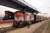 Dabhoi Jn (L-R) - RTM WDM3A 16807 waits with 59122 1045 Chhotaudepur - Vadodara Jn while PRTN ZDM5 511 waits with 52024 1345 Dabhoi Jn - Malsar