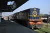 NKE YDM4 6758 at Narkatiaganj Jct with 52504 0930 to Bhikhana Thori on the Nepal border