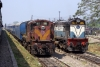 NGC WDS6 36080 and WDM3A 18944 in a carriage siding just east of Guwahati Jct