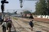LDH WDM2's 17885/16662 arrive Chakki Bank with 12472 1115 Jammu Tawi - Bandra Terminus