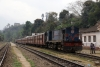 LMG YDM4 6177 leads 15693 0615 Lumding Jct - Silchar as it waits departure from Lower Haflong