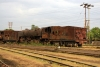 Steam loco 4405 rusts away in Badarpur Yard