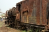 Steam loco 4091 rusts away in Badarpur Yard
