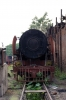 Steam loco 4119 rusts away in Badarpur Yard