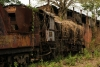 Steam loco 2166 allows nature to take its course in Badarpur Yard