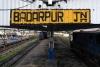 Badarpur Jct with LMG YDM4s (L) 6642/6714 + 6365, (R) 6501