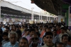 Kolkata Howrah station during rush hour