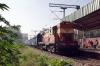 GTL WDM2 18541 at Yelahanka Jct with 56503 0800 Yesvantpur Jct - Vijayawada Jct