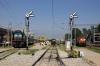 Yesvantpur Jct (L) KJM WDG3A 13034 after arrival with 12258 1700 (28/11) Kochuvelli - Yesvantpur (C) KJM  WDG3A 13043 with 17304 1120 Yesvantpur - Mysore & (R) KZJ WDM3A 18756