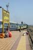 KYN WDM3D 11356 departs Kurduvadi Jct with 11052 0845 Kolhapur - Solapur Jct, Maharashtra
