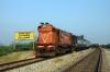 GTL WDM3A 16566 waits at Harlapur with 57273 0600 Hubli Jct - Tirupati Jct