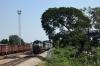 KJM WDM2 17603 arrives into Hospet Jct with 56909 2330 (20/11) Bangalore City - Hospet Jct