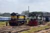KJM WDM2S 017477 & KJM WDG3A 13268 at Mysore Jct