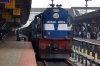 Recently overhauled ERS WDM3A 14052R at Shoranur Jct
