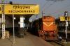 GTL WDG3A 13468 waits departure from Secunderabad Jct with 17002 1640 Secunderabad Jct - Sainagar Shirdi