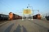 Secunderabad Jct (L) MLY WDM3As 18887/16551 re-engine 12591 0645 (17/11) Gorakhpur Jct - Bangalore City (R) MLY WDG3A 13653 shunts stock  for 17064 1810 Secunderabad Jct - Manmad Jct