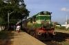GOC WDM2 16666 arrives Sankarankovil with 56732 0700 Sengottai - Madurai Jct