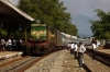GOC WDM2 16536 arrives Rajapalaiyam with 56731 0715 Madurai Jct - Sengottai