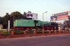 Steam loco 4010 plinthed on the approach road to Trichy Jct station