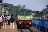 GOC WDP3A 15524 arrives into Thiruvarur Jct with 56713 1500 Nagore - Trichy Jct