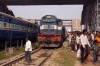 SPJ WDM3D 11510 at Darbhanga Jct after arrival with 55518 0800 Jaynagar - Darbhanga Jct