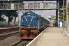 BWN WDM3A 16360 arrives into Prantik with 53068 0935 Rampurhat - Barddhaman Jct