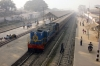 IZN YDM4 6451 waits at Bhojipura Jct with 15309 0810 Izatnagar - Aishbagh
