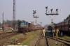IZN YDM4 6552 arrives into Pilibhit Jct with 52232 1115 Shahjahanpur Jct - Pilibhit Jct