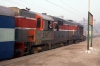 LDH WDG3A 14834 at Rampur with 14205 2145 (P) Faizabad Jct - Delhi Jct