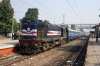 GD WDM3A 16594 waits at Unnao Jct with 57335 0700 Balamau Jct - Kanpur Central