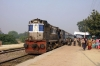 LKO WDM3A 16307 waits departure from Raghuraj Singh with 54222 0825 Raghuraj Singh - Rae Bareli