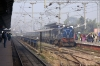 SPJ WDM3A 16248 at Muzaffarpur Jct with 55210 0300 Narkatiaganj Jct - Sonpur Jct; 2 hours late