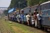 MIB ZDM3A 163 arrives into Itwari Jct, Maharashtra, with 58844 0615 Nagbhir Jct - Nagpur