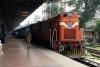 "KYN WDG3A 13577 prepares to depart Mumbai CST with 12071 1350 Mumbai CST - Aurangabad ""Jan Shatabdi"""