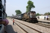 Recently transferred to JHS, WDM3A 18671 arrives Bilhaur with 51824 1000 Farrukhabad Jct - Allahabad Jct